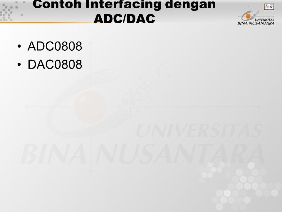 Contoh Interfacing dengan ADC/DAC