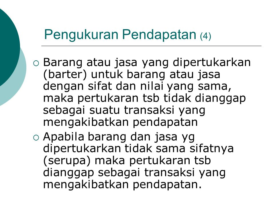 Pengukuran Pendapatan (4)