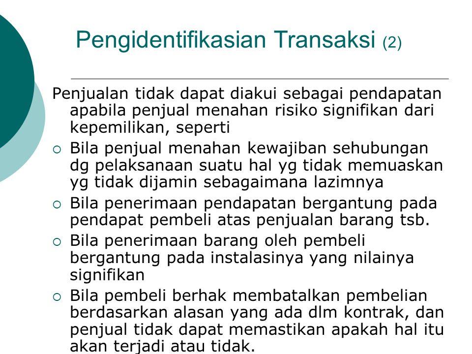 Pengidentifikasian Transaksi (2)