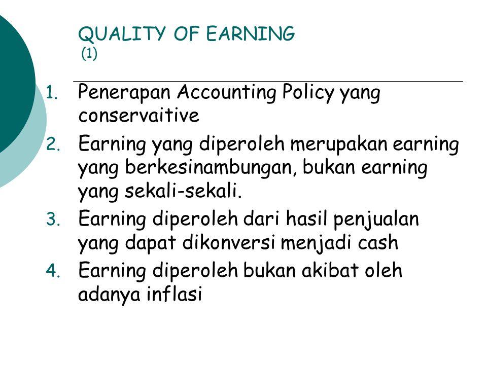 Penerapan Accounting Policy yang conservaitive