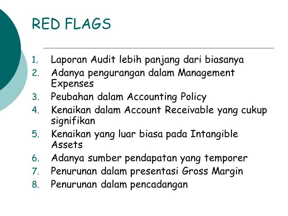 RED FLAGS Laporan Audit lebih panjang dari biasanya
