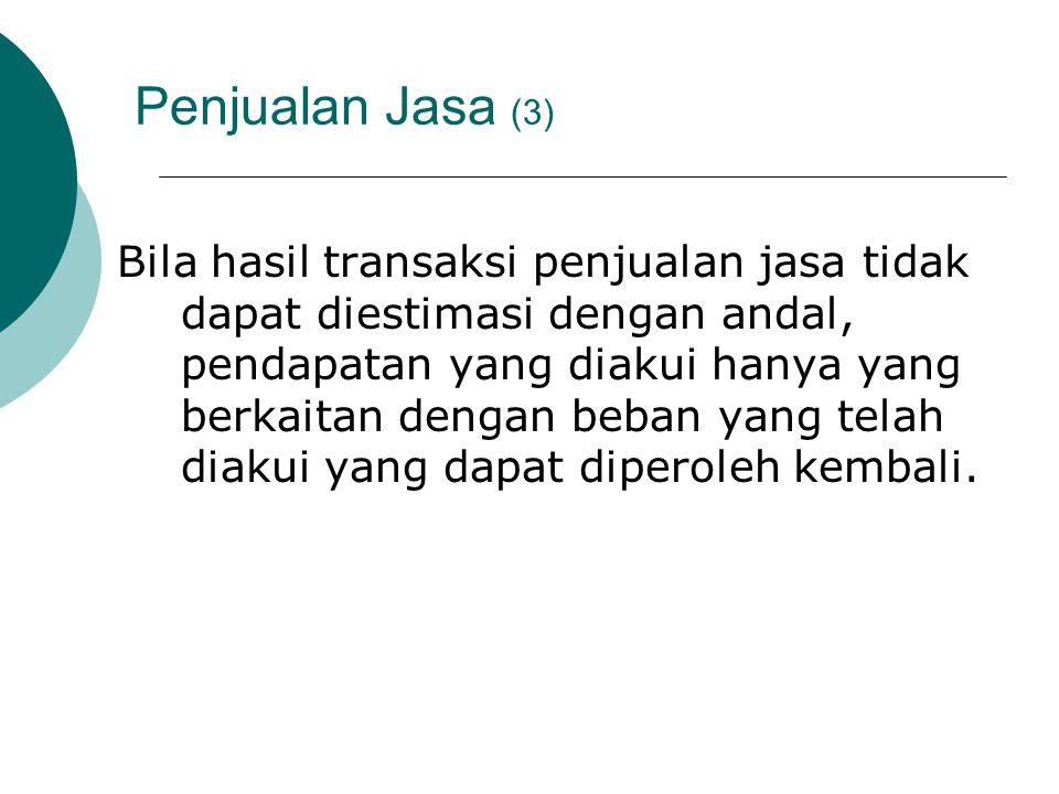 Penjualan Jasa (3)
