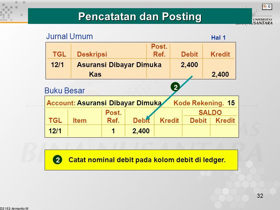 Pencatatan dan Posting