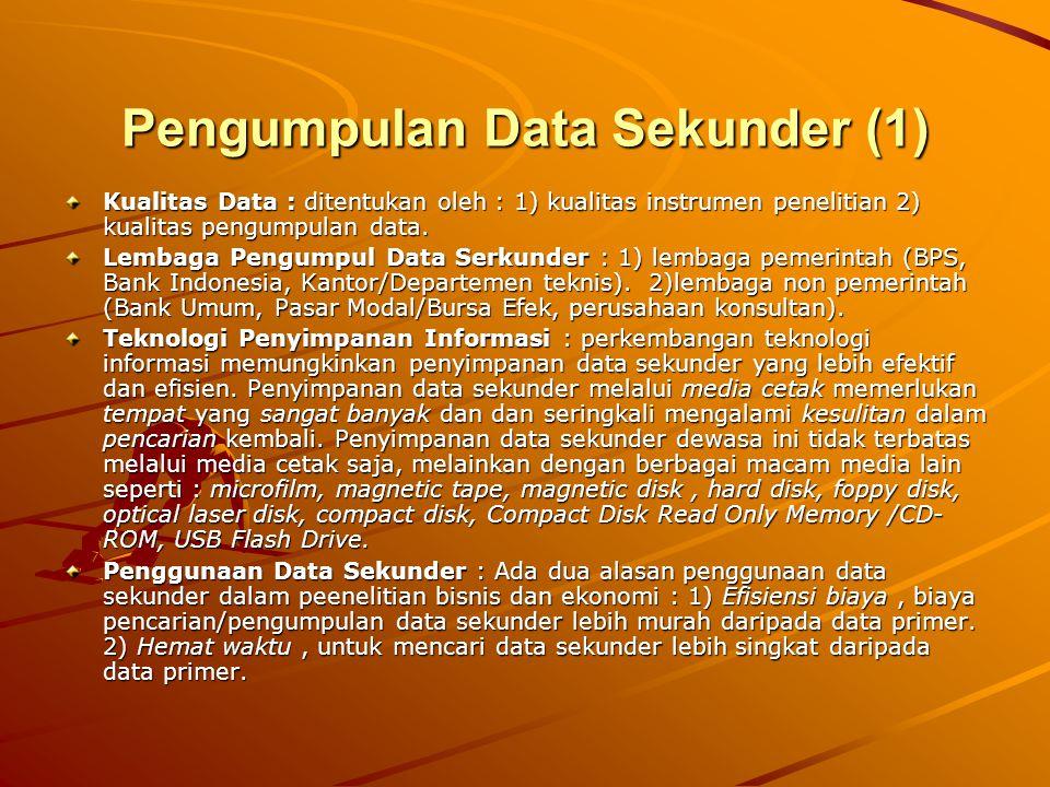 Pengumpulan Data Sekunder (1)