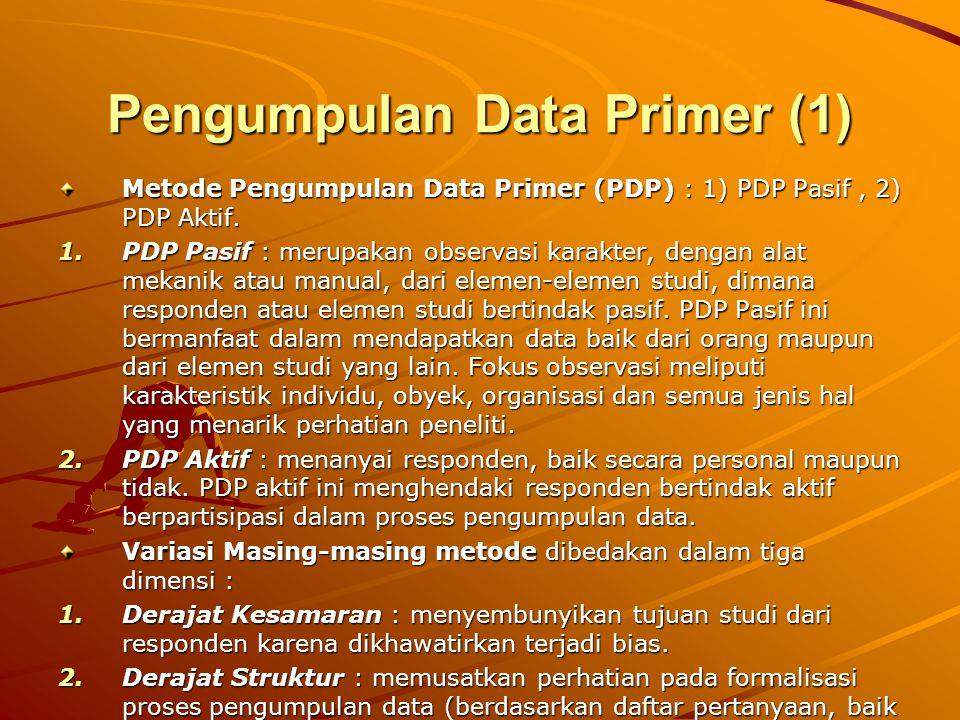 Pengumpulan Data Primer (1)