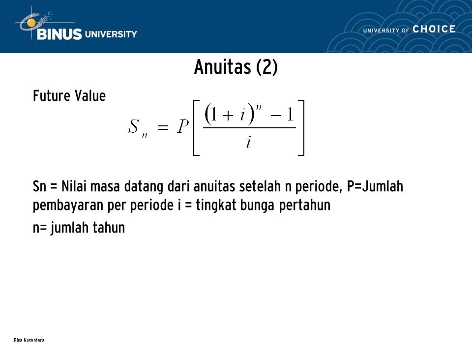 Anuitas (2) Future Value