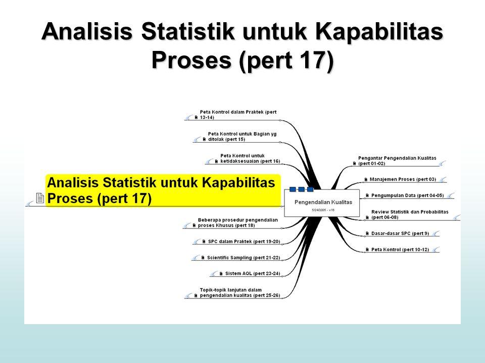 Analisis Statistik untuk Kapabilitas Proses (pert 17)