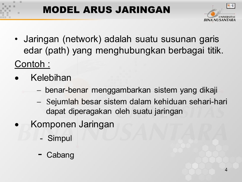 - Cabang MODEL ARUS JARINGAN