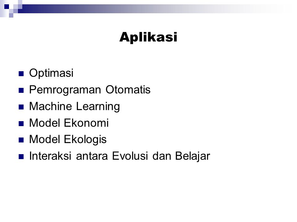 Aplikasi Optimasi Pemrograman Otomatis Machine Learning Model Ekonomi