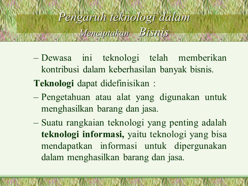 Pengaruh teknologi dalam Menciptakan Bisnis
