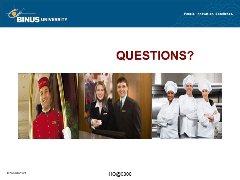 QUESTIONS Bina Nusantara HO@0808