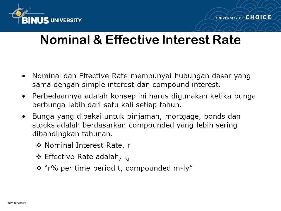 Nominal & Effective Interest Rate