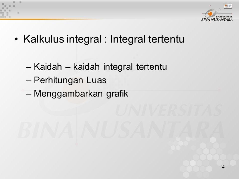 Kalkulus integral : Integral tertentu