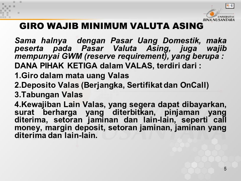 GIRO WAJIB MINIMUM VALUTA ASING