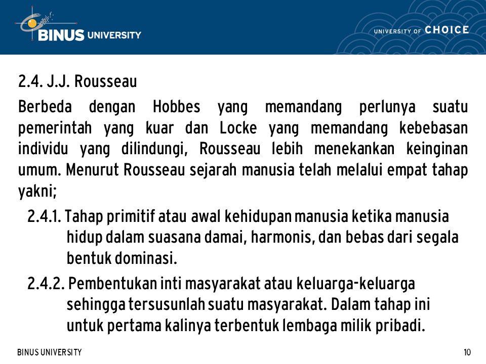 2.4. J.J. Rousseau