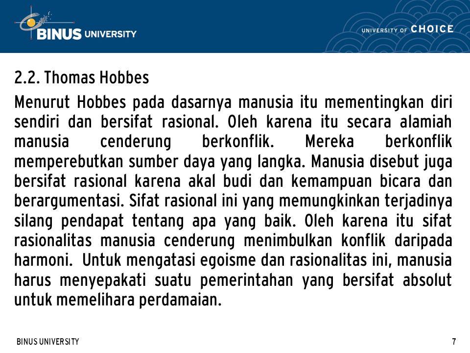 2.2. Thomas Hobbes