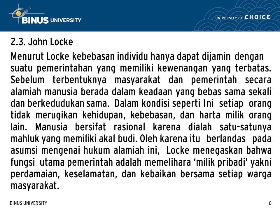 2.3. John Locke