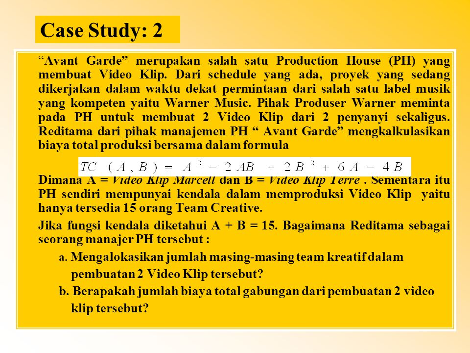 Case Study: 2