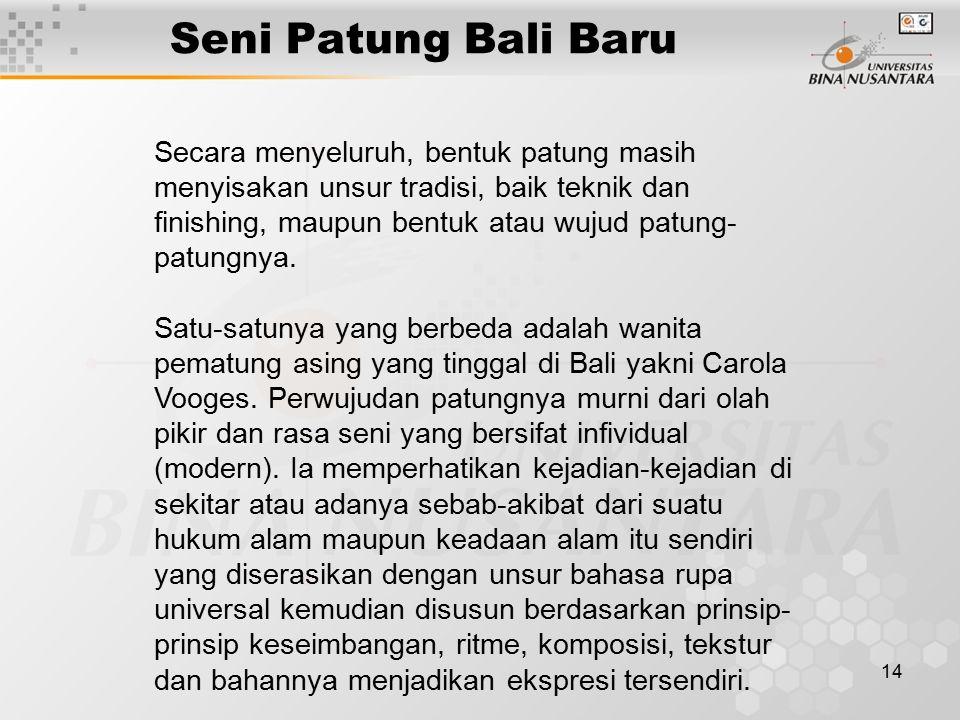 Seni Patung Bali Baru