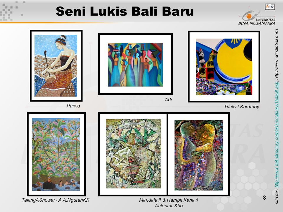 Seni Lukis Bali Baru Ricky I Karamoy Adi Purwa