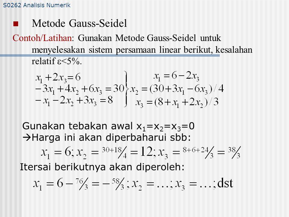 S0262 Analisis Numerik Metode Gauss-Seidel.
