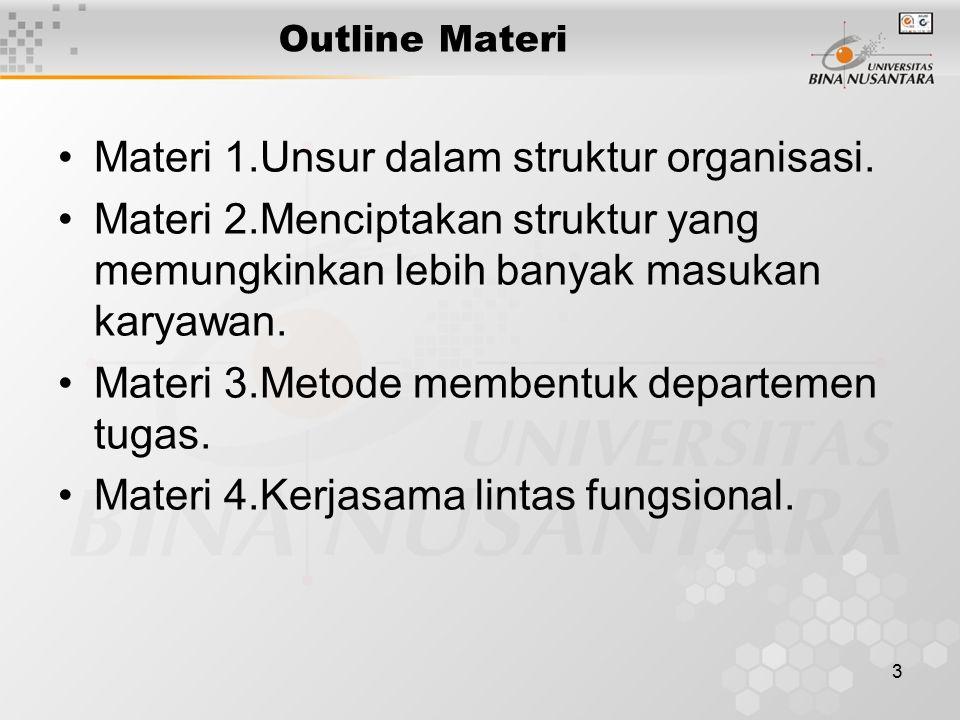 Materi 1.Unsur dalam struktur organisasi.