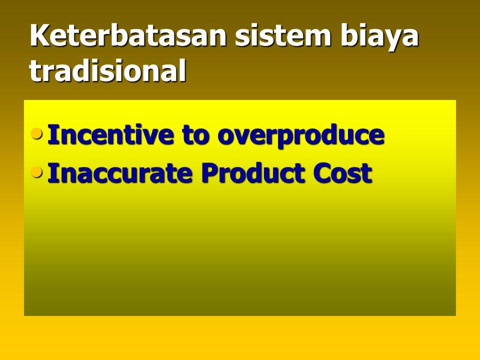 Keterbatasan sistem biaya tradisional