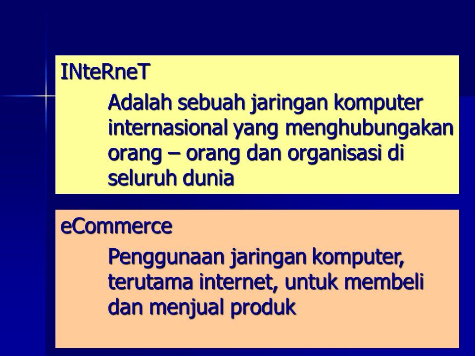 INteRneT Adalah sebuah jaringan komputer internasional yang menghubungakan orang – orang dan organisasi di seluruh dunia.