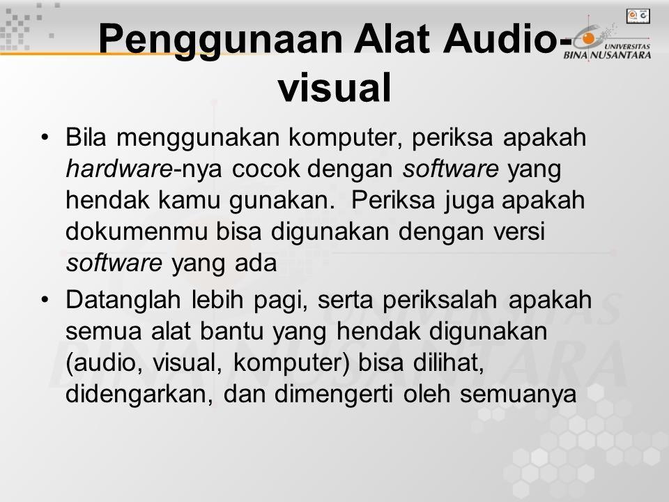 Penggunaan Alat Audio-visual