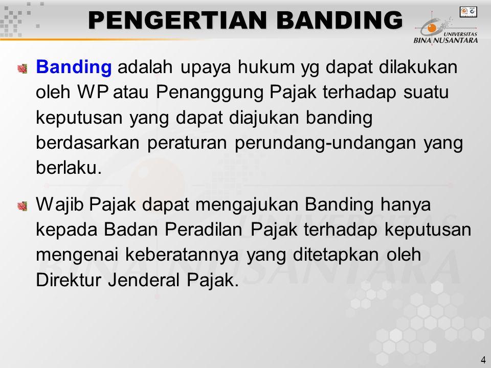 PENGERTIAN BANDING