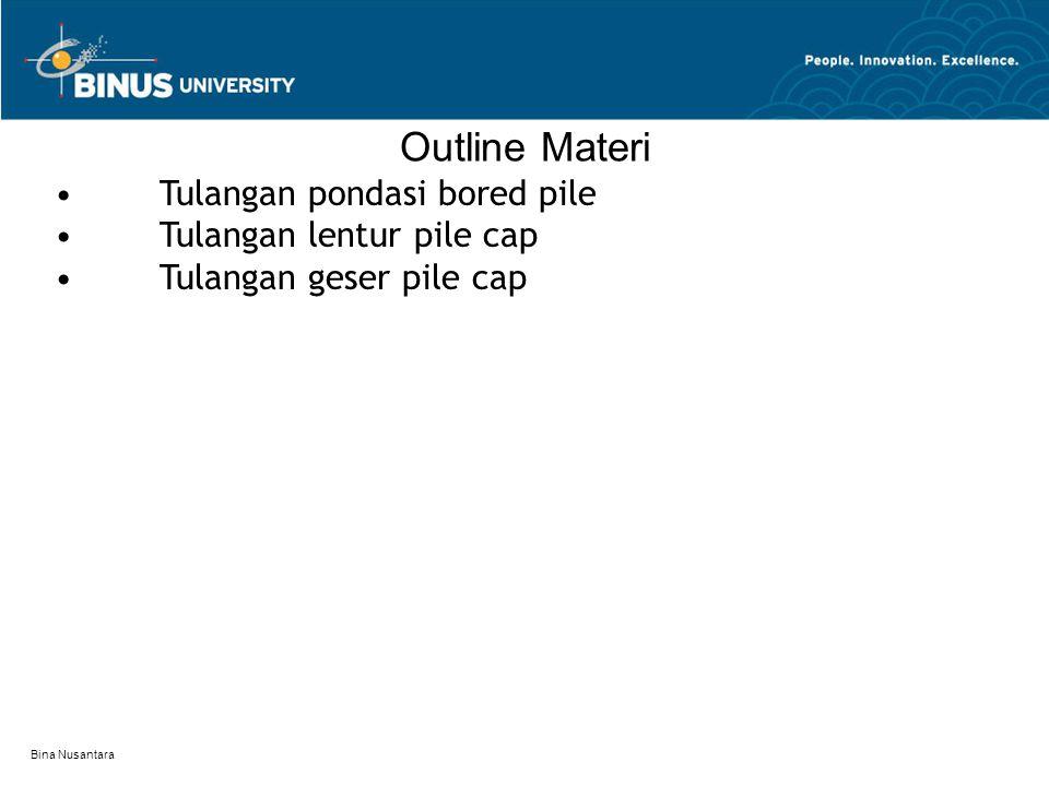 Outline Materi • Tulangan pondasi bored pile