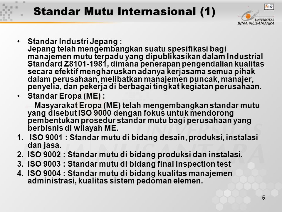 Standar Mutu Internasional (1)