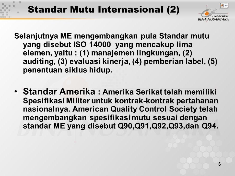 Standar Mutu Internasional (2)