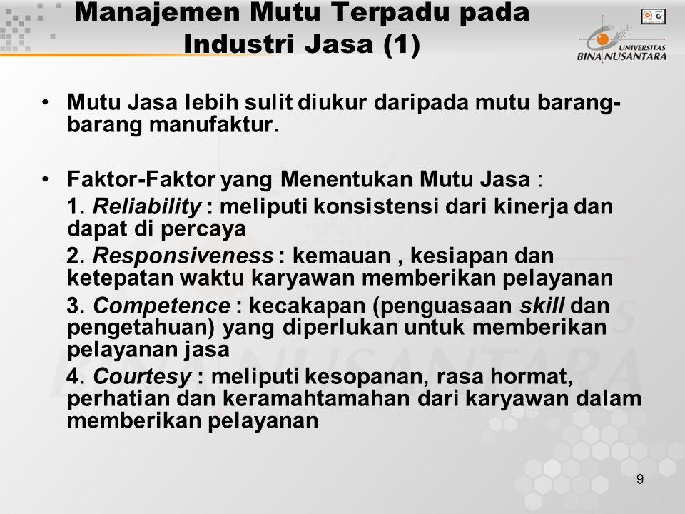 Manajemen Mutu Terpadu pada Industri Jasa (1)