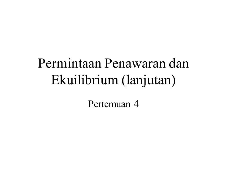 Permintaan Penawaran dan Ekuilibrium (lanjutan)