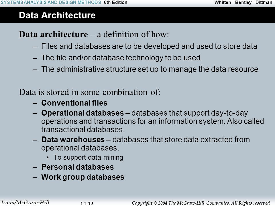 Data architecture – a definition of how: