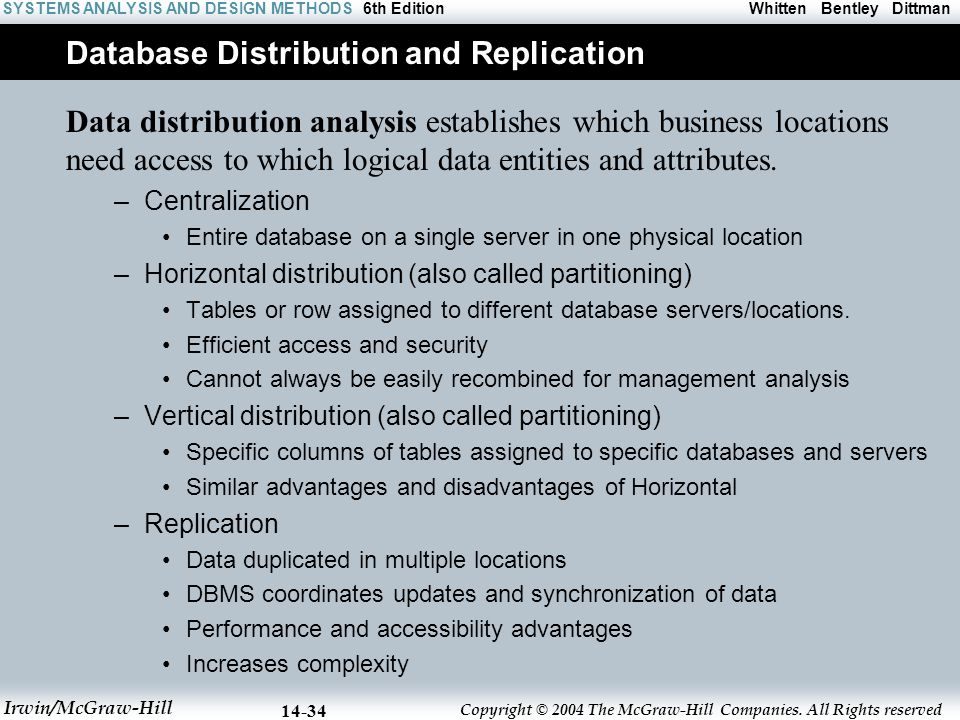 Database Distribution and Replication