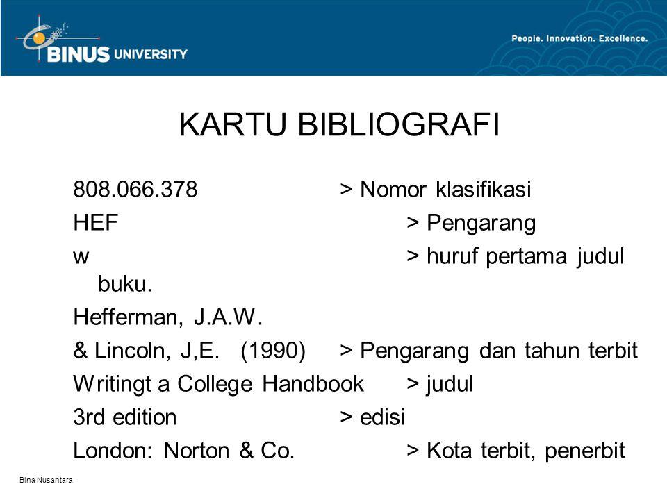 KARTU BIBLIOGRAFI 808.066.378 > Nomor klasifikasi