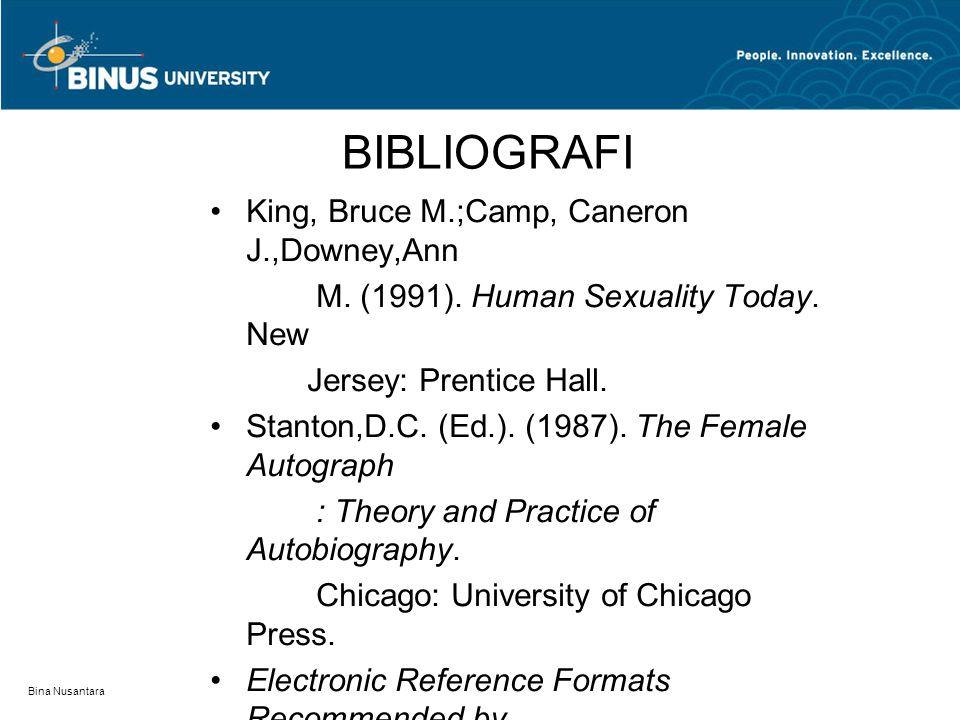 BIBLIOGRAFI King, Bruce M.;Camp, Caneron J.,Downey,Ann
