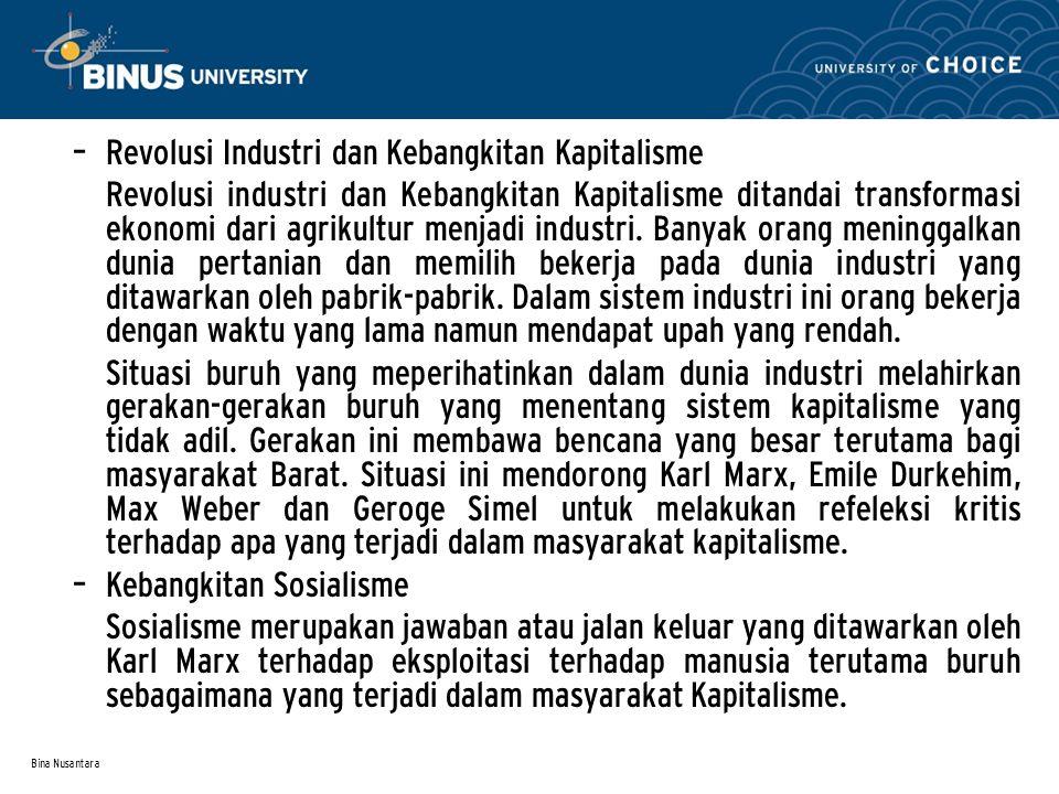 Revolusi Industri dan Kebangkitan Kapitalisme
