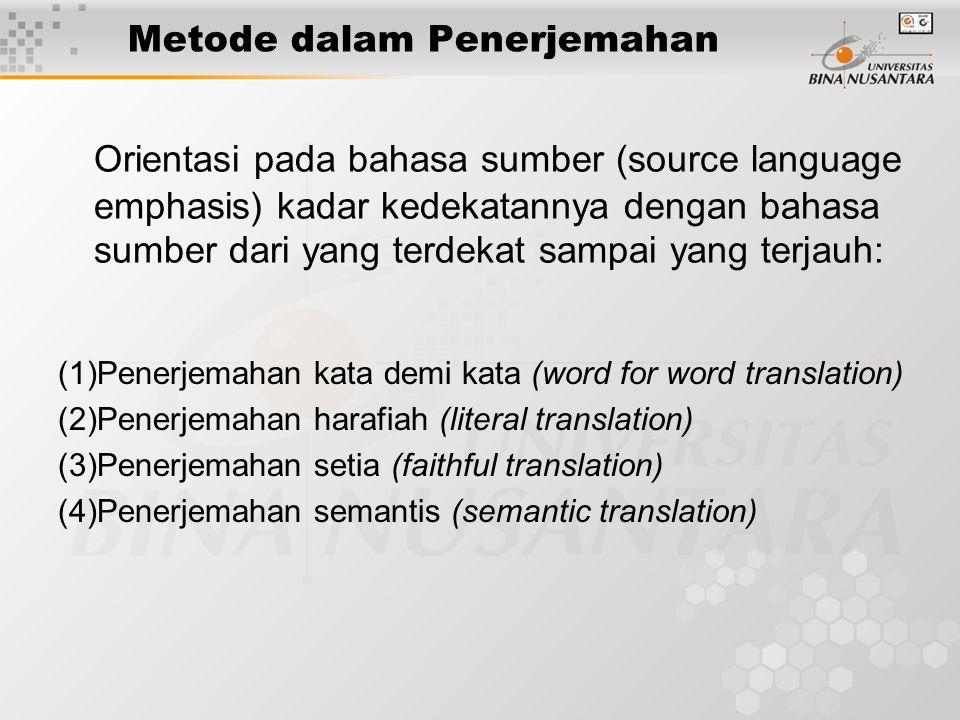 Metode dalam Penerjemahan