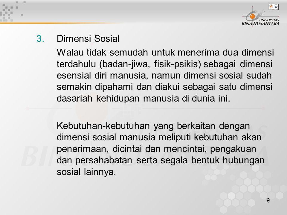 Dimensi Sosial
