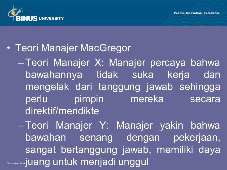 Teori Manajer MacGregor