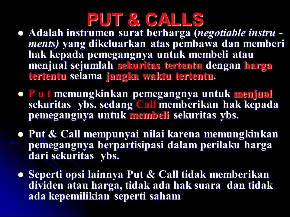 PUT & CALLS