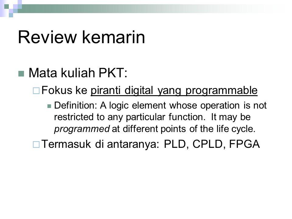 Review kemarin Mata kuliah PKT:
