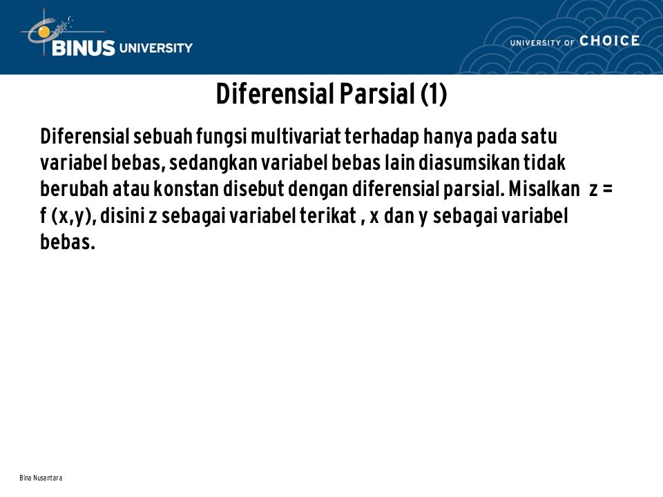 Diferensial Parsial (1)