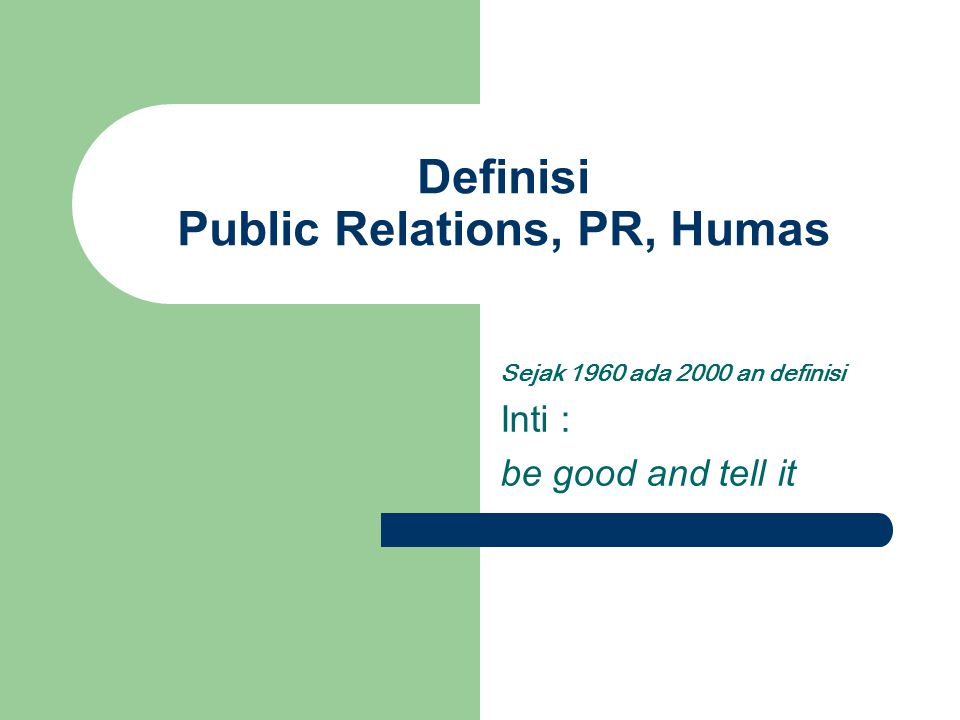 Definisi Public Relations, PR, Humas