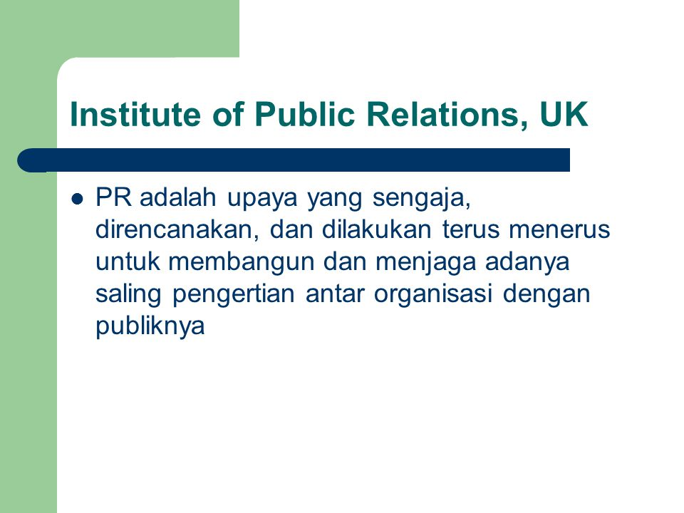 Institute of Public Relations, UK