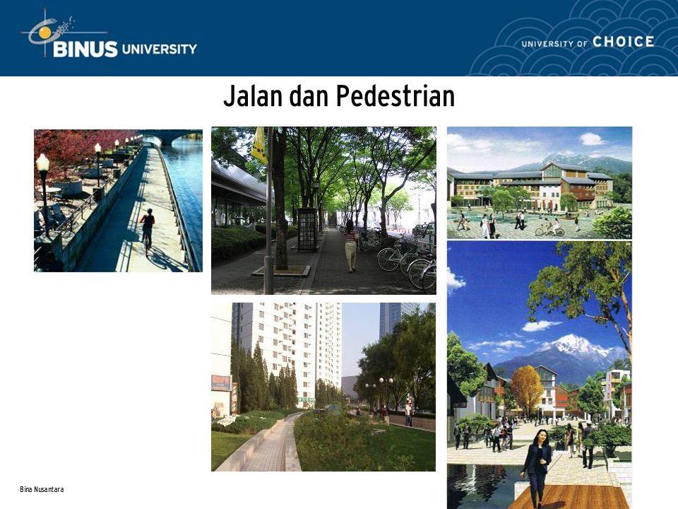 Jalan dan Pedestrian Bina Nusantara