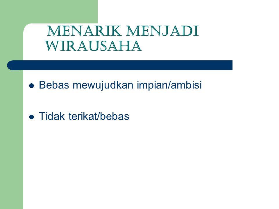 MENARIK MENJADI WIRAUSAHA